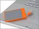 ラシー、カードサイズの薄型8GバイトUSBストレージ
