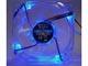 サイズ、ブルーLED搭載の透明ケースファン「光る鎌風の風」