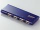 エレコム、薄型スリムタイプのバスパワー専用USBハブ