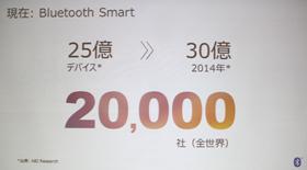 d22a3f92e3 Bluetooth機器は2008年に累計10億台を突破。2014年までにBluetooth Smart対応デバイスは30億台に達する見込みだ