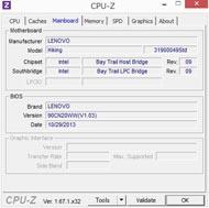 Miix 2 8、CPU-Zの結果
