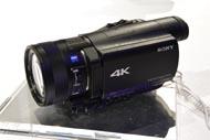 4K対応の小型ビデオカメラ「FDR-AX100」