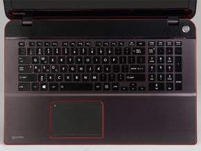 Qosmio T974のキーボード面