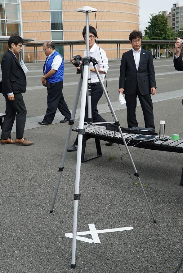 TOUGHPADを使った高精度測位システム