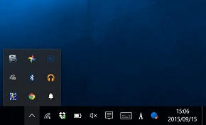 Windows 10の通知領域