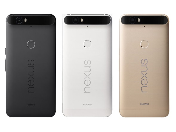 Nexus 6P(グラファイト、フロスト、ゴールド)