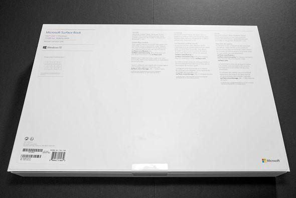 Surface Bookパッケージ裏面