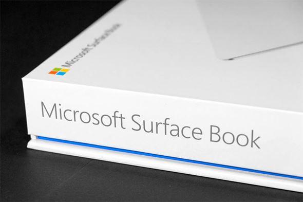 Surface Bookパッケージ側面