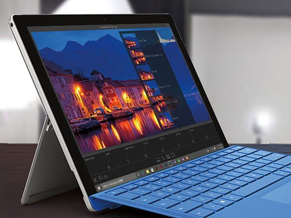 Surface Pro 4の液晶ディスプレイ
