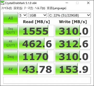 CrystalDiskMark 5.1.0
