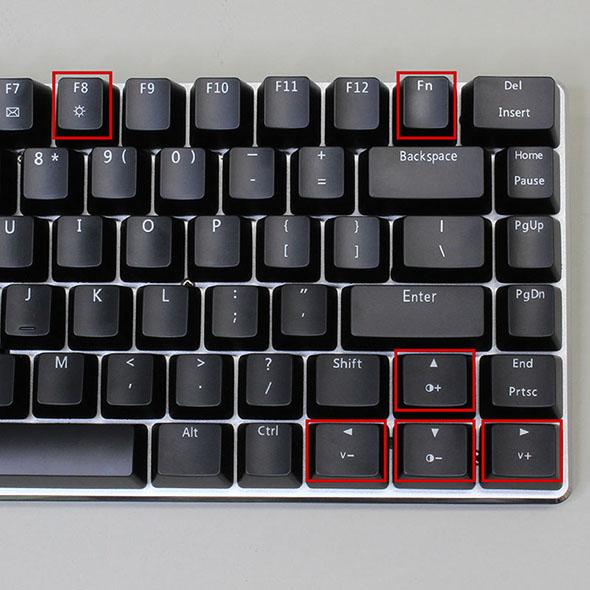 中華 黒軸/青軸 LEDキーボード