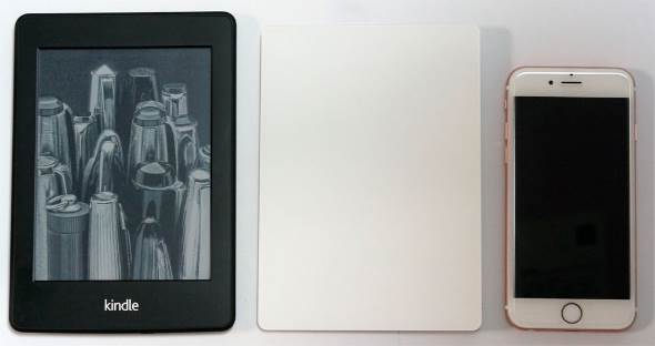 Kindle paperwhite iPhone 6s Magic Touchpad