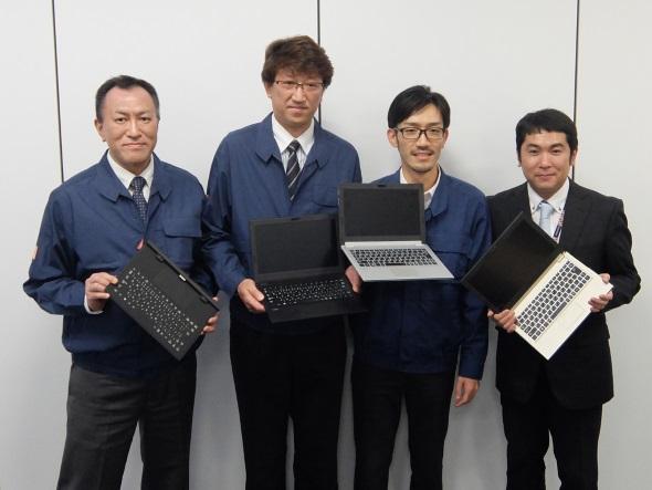 説明会の登壇者。左から杉本氏、梅津氏、中井氏、梅田氏
