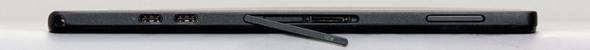 左側面には左からThunderbolt 3兼USB 3.1 Type-Cポート×2、microSDカードリーダ、音量キー