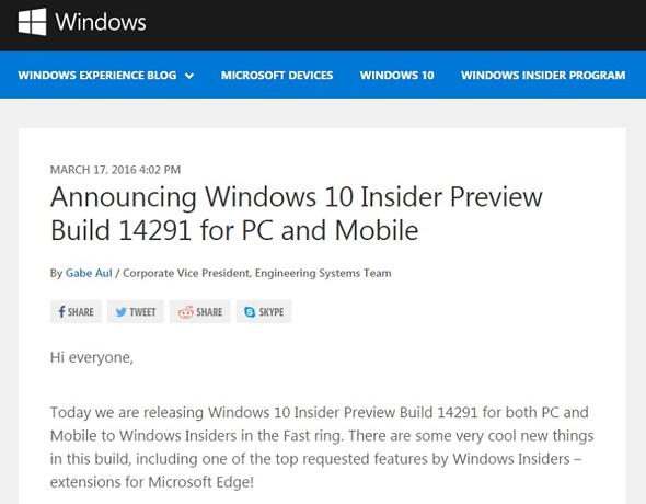 「Build 14291」