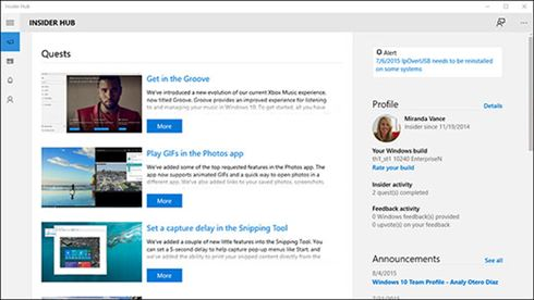 Insider Hubアプリ