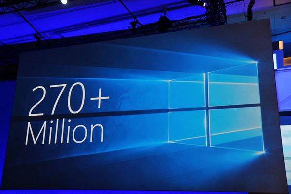 Windows 10が動作するデバイス数