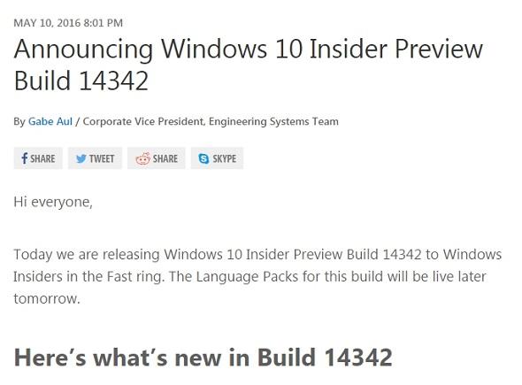 「Build 14342」
