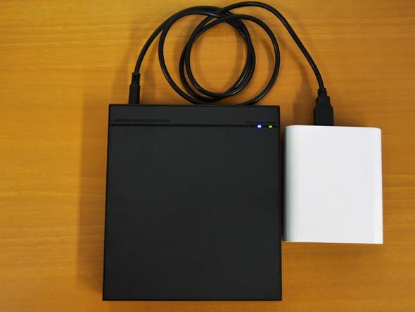 モバイルバッテリーで動作する「LDR-PS8WU2VBK」