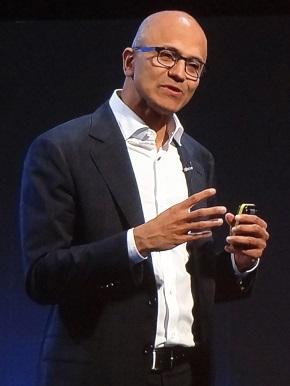 米Microsoft CEOのサティア・ナデラ氏