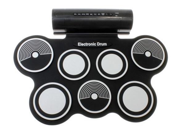 7パッド+2フットペダル 電子ドラムパッド