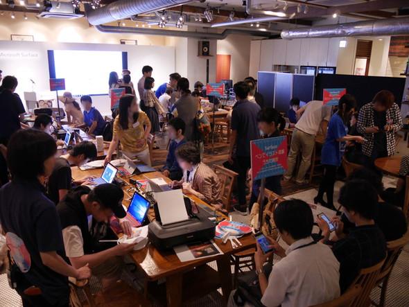 六本木アークヒルズカフェで行われたSurface デジタル夏祭り