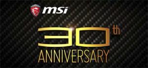 MSI創業30周年記念
