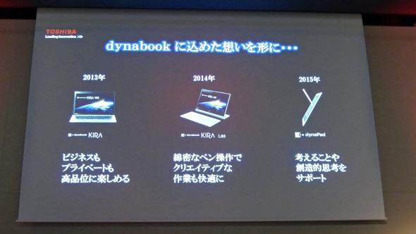 2013〜2015年に発売した3機種を……