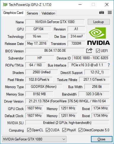 GPU-Zの表示