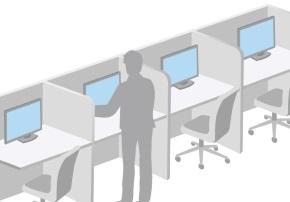 狭い机のイメージ