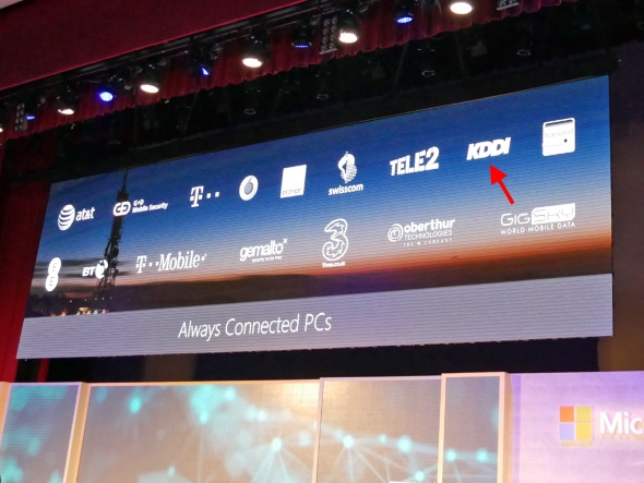 Always Connected PCのパートナー通信事業者