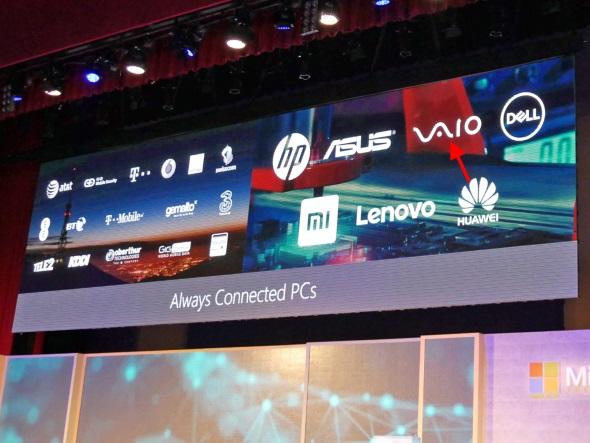 日本メーカーではVAIOがAlways Connected PCに参入する予定