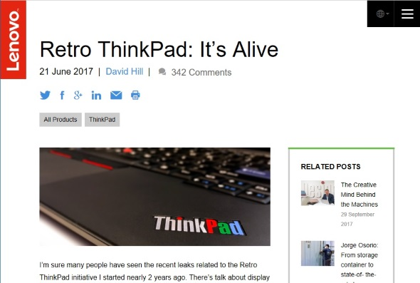 Retro ThinkPad: It's Alive