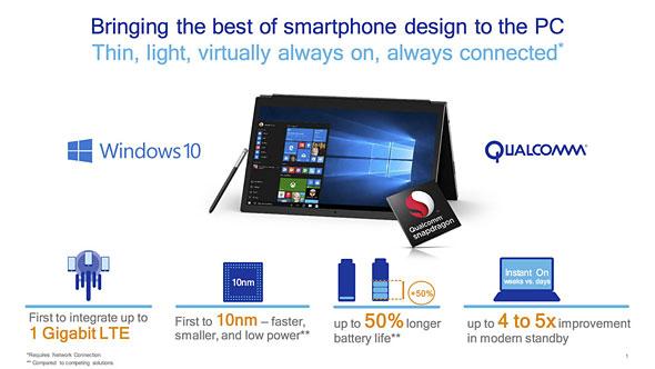 Snapdragon x Windows 10