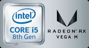 Core i5×Radeon RX Vega Mロゴ
