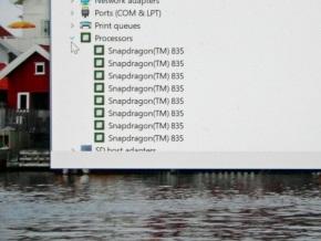 デバイスマネージャー(CPU)