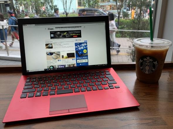 カフェでdocomo Wi-Fiを使う図