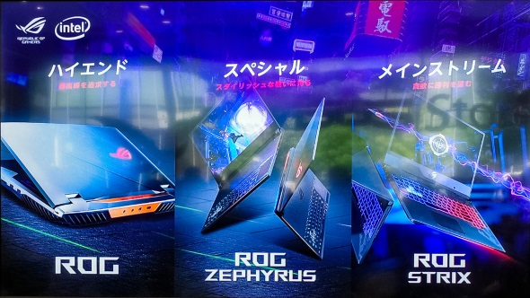 ROGの3シリーズ