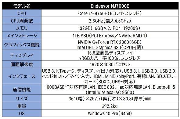 Endeavor NJ7000E