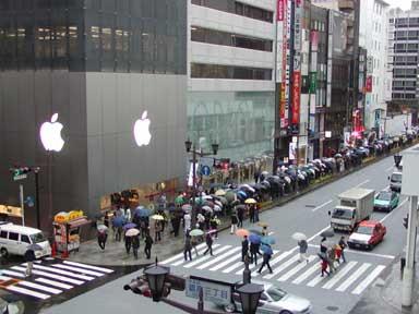 オープン当時のApple Store Ginza