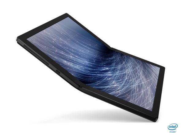 ThinkPad X1 Fold(開きかけ)