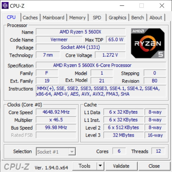 CPU-Z(その2)