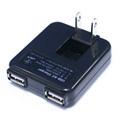 USB-AC�`���[�W���[2P