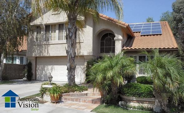 太陽電池を設置した家屋の例