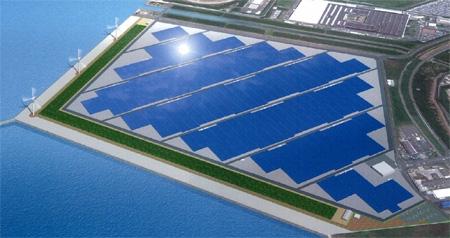 太陽光発電所・風力発電所の完成予定図