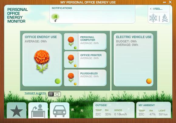 Screen of Energy Monitor