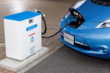 電気自動車リーフに充電した電力を家庭でも利用可能にする、「EVパワーステーション」