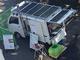 バイオマス発電ができる軽トラ、災害時に電力と温水を供給