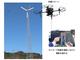 有線ドローンを小形風力の点検に、新潟県で実証実験