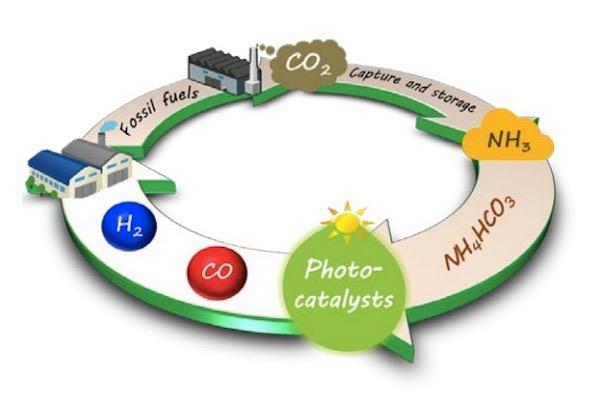 アンモニアを電子源に人工光合成 co2からプラスチック原料を生成